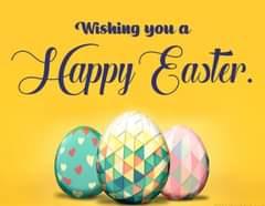 Возможно, это изображение (текст «Wishing you a Happy Easter.»)